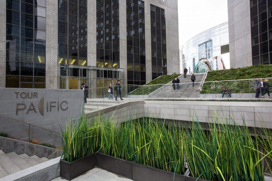 Tour Pacific à La Défense, architextes Sahuc&Katchoura chef de projet Françoise Sahuc, Maitre d'ouvrage Tishman Speyer Pacific SCI